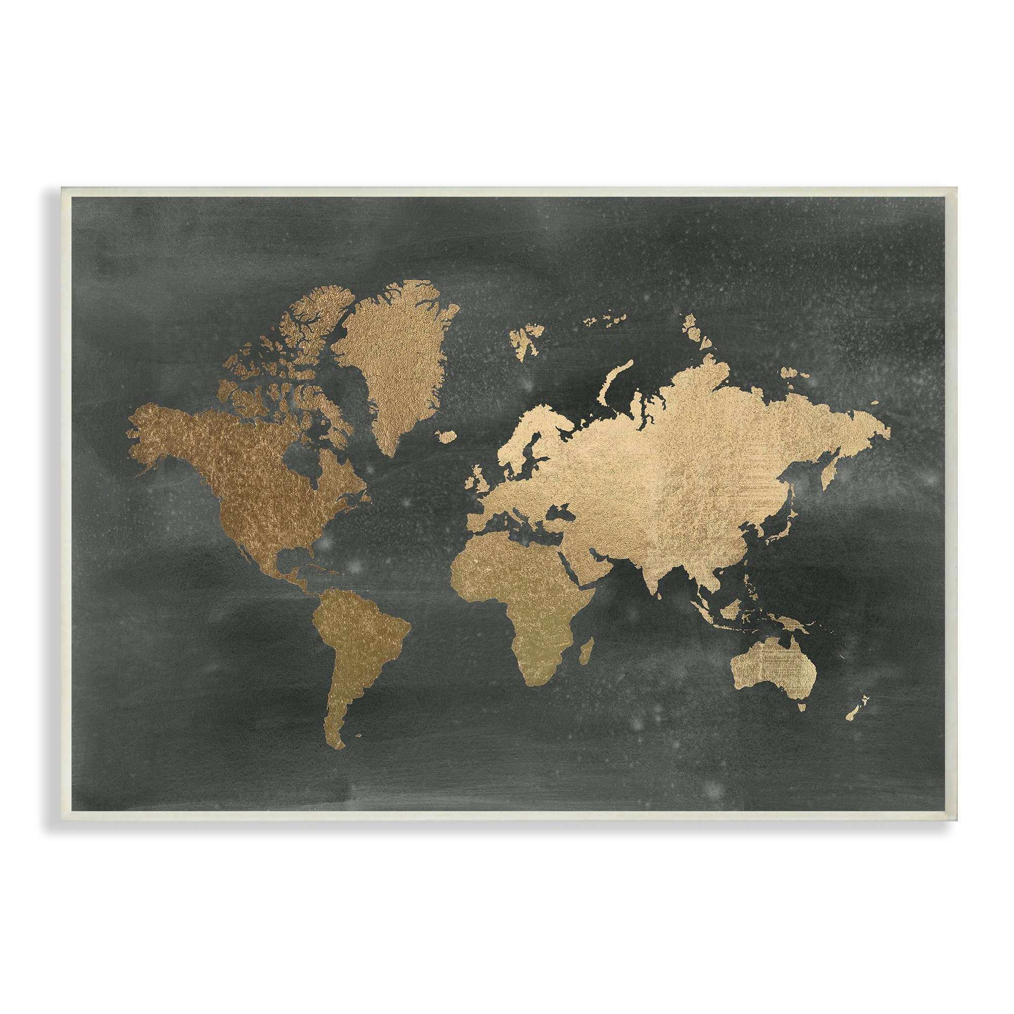 Black and Gold Wall Art New Stupell Industries Black and Gold World Map Graphic Art