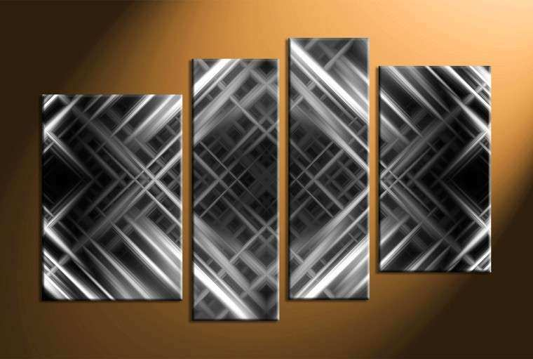 Black and Gray Wall Art Lovely 4 Piece Canvas Grey Abstract Wall Decor