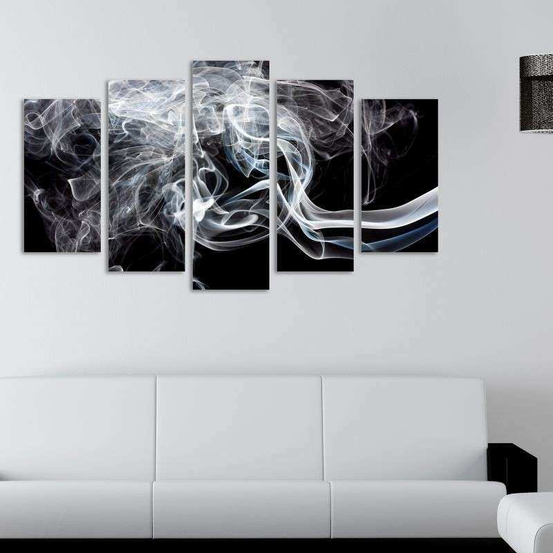 Sensational Black And White Abstract Wall Art Canvas Medal