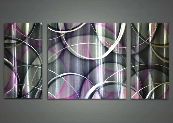 Wall Art Design Ideas Abstract Base Purple Metal Wall Art