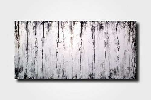 Original Abstract Braille painting 18 X 36 Inches