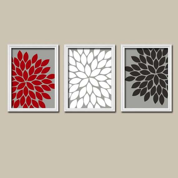 Black and White Bathroom Wall Decor Awesome Red White Black Grey ...