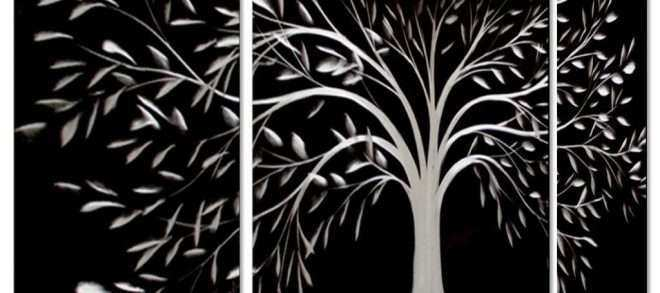Black and White Wall Art Inspirational Tree Of Life Metal Wall Art Large Decoration with Branch