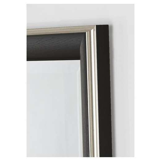 Rectangle Cypress Decorative Wall Mirror with Black Silver
