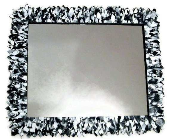 Items similar to Black and White Mirror Wall Mirror