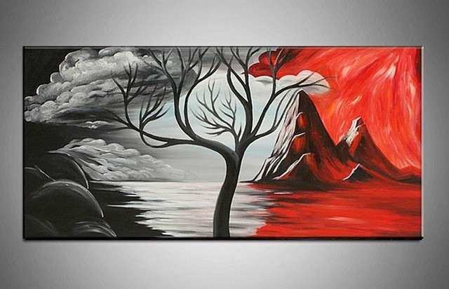 Aliexpress Buy handpainted black white red beautiful