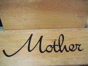 Mother Black Wrought Iron Wall Art Metal Home Decor Primitive