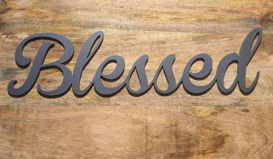 Blessed Metal Wall Art Hanging Sign Plaque Home Decor