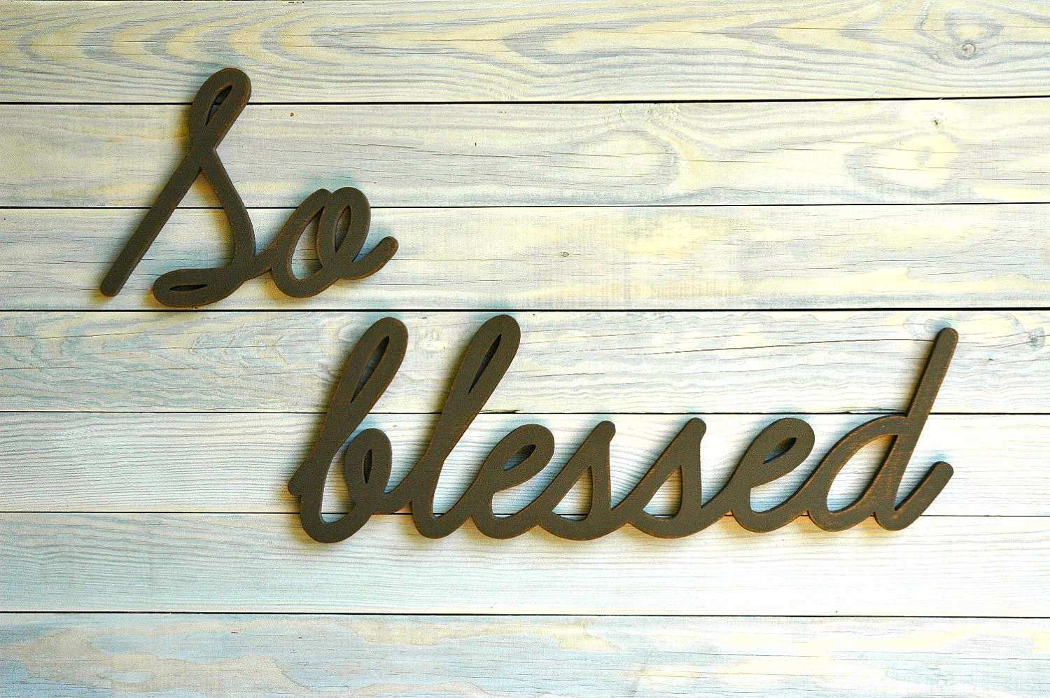 SO BLESSED handmade recycled wood sign you by HomegrownSignCo