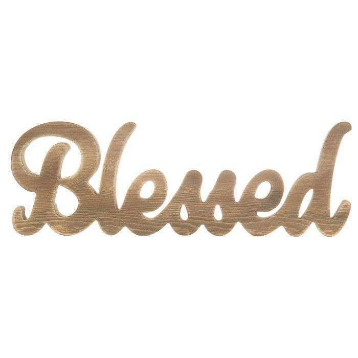 Blessed MDF Word Rustic Decor Pinterest