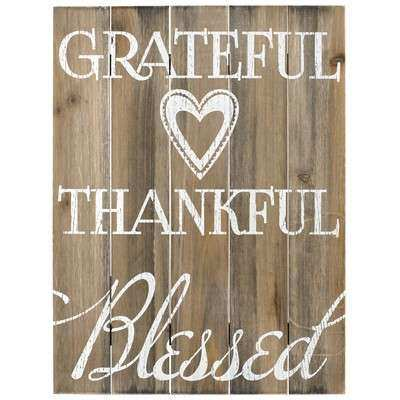Malden Grateful Thankful Blessed Wall Decor & Reviews