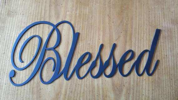 Blessed Metal Wall Art