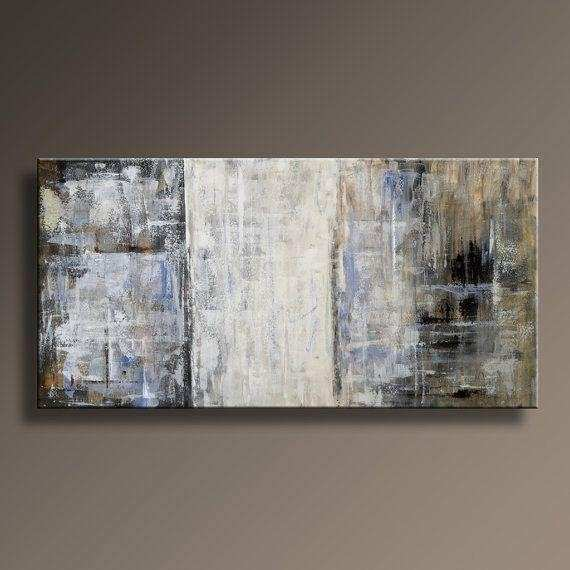 20 Best Collection of Blue and Brown Abstract Wall Art