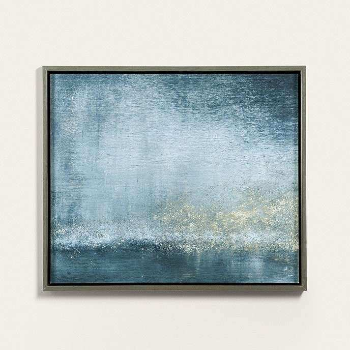 Blue and Brown Wall Art Inspirational Twilight the Seine Abstract ...