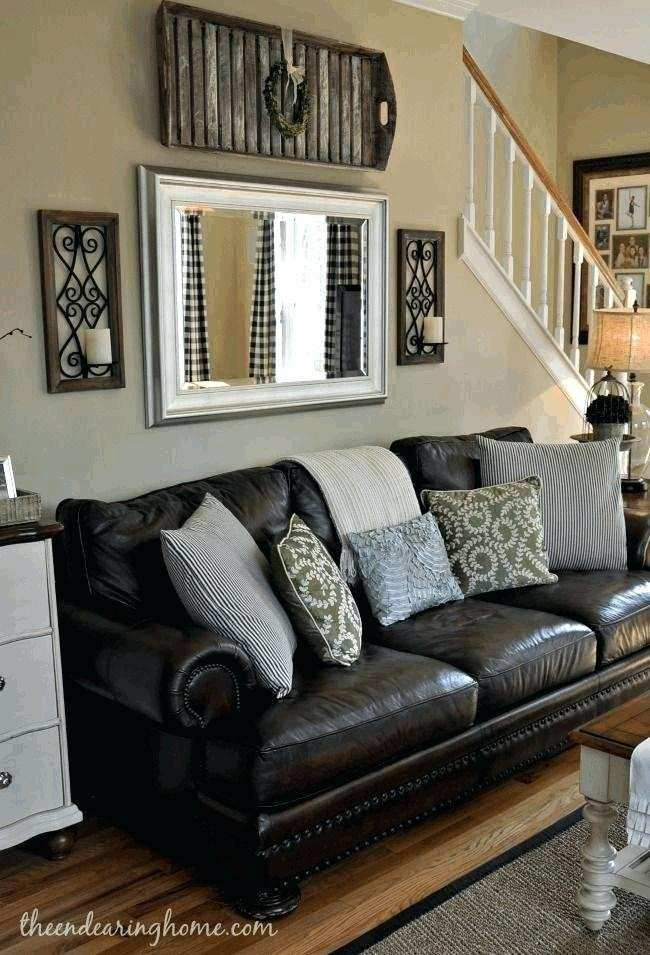 Home Design Brown And Blue Living Room Decor With Dark