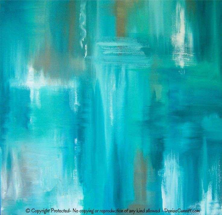 canvas wall art Teal abstract artwork Turquoise
