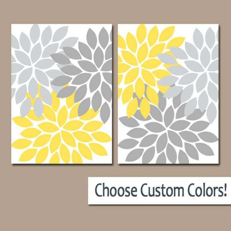 Blue and Yellow Wall Art New Navy Blue Yellow Wall Art Canvas or ...