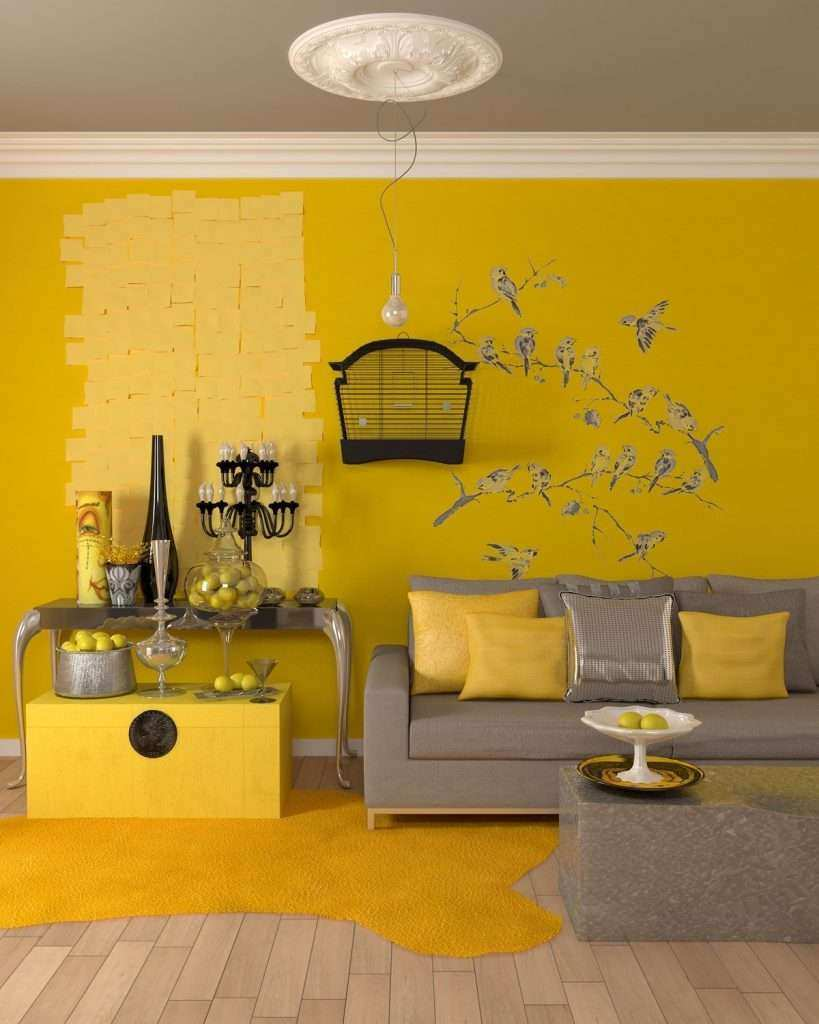 Blue and Yellow Wall Decor Inspirational 25 Gorgeous Yellow Accent ...