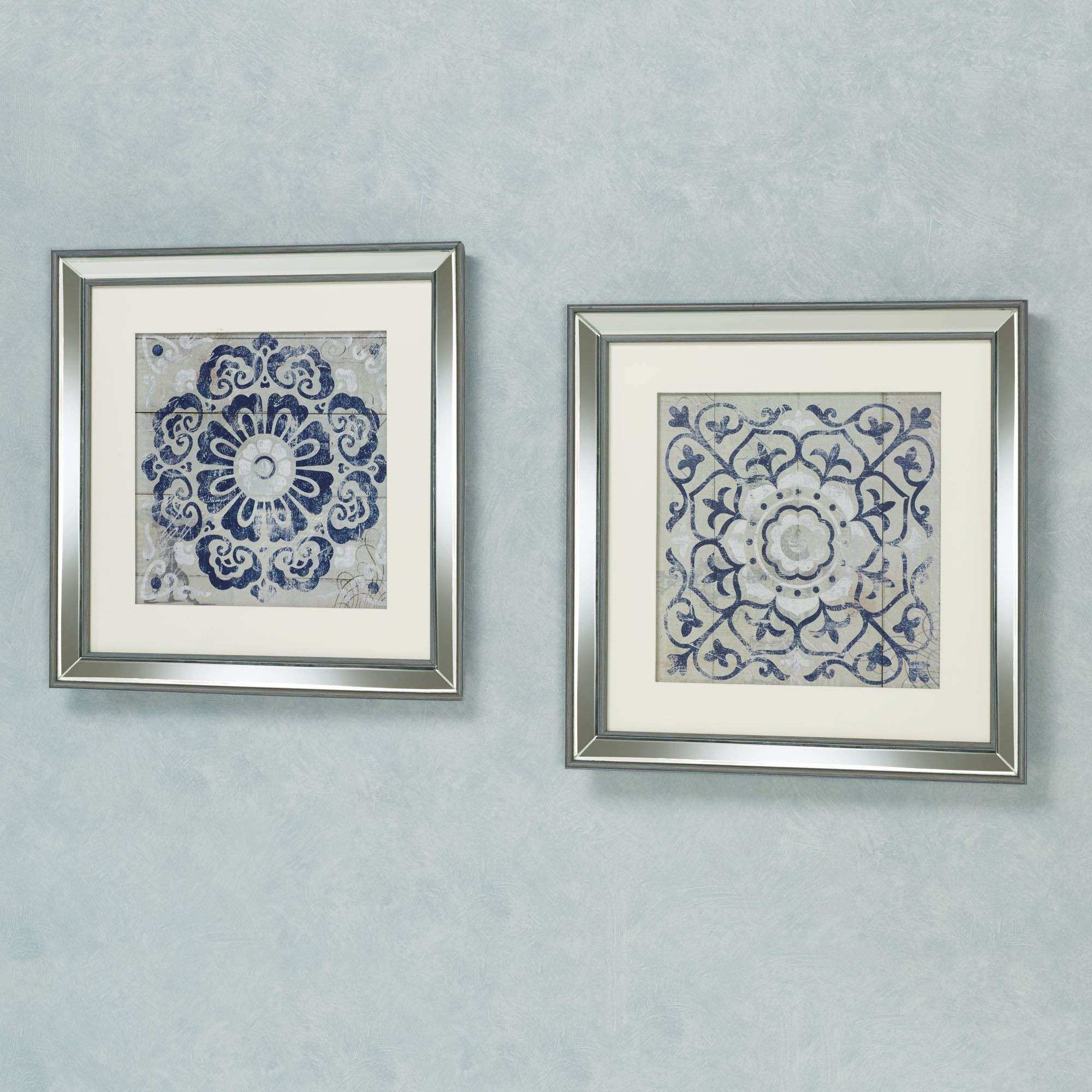 Medallion Framed Wall Art Set