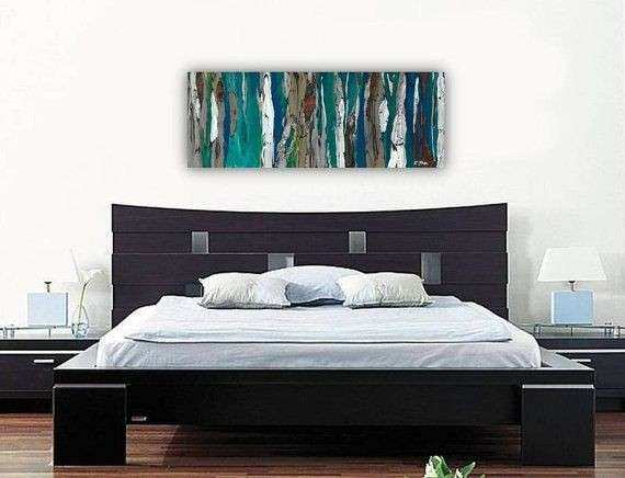 Wall Art Print abstract landscape tree canvas long