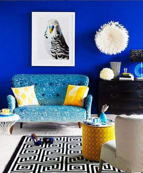 royal blue accent wall For the Home Pinterest