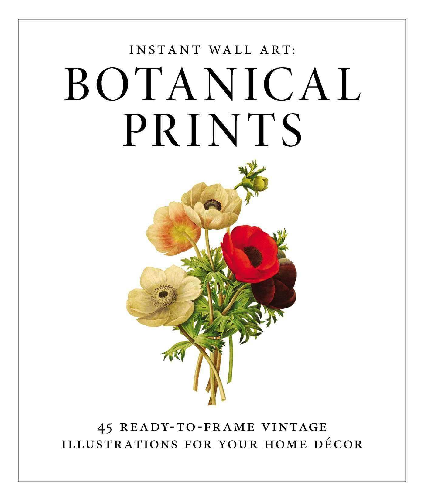 Instant Wall Art Botanical Prints Book by Adams Media