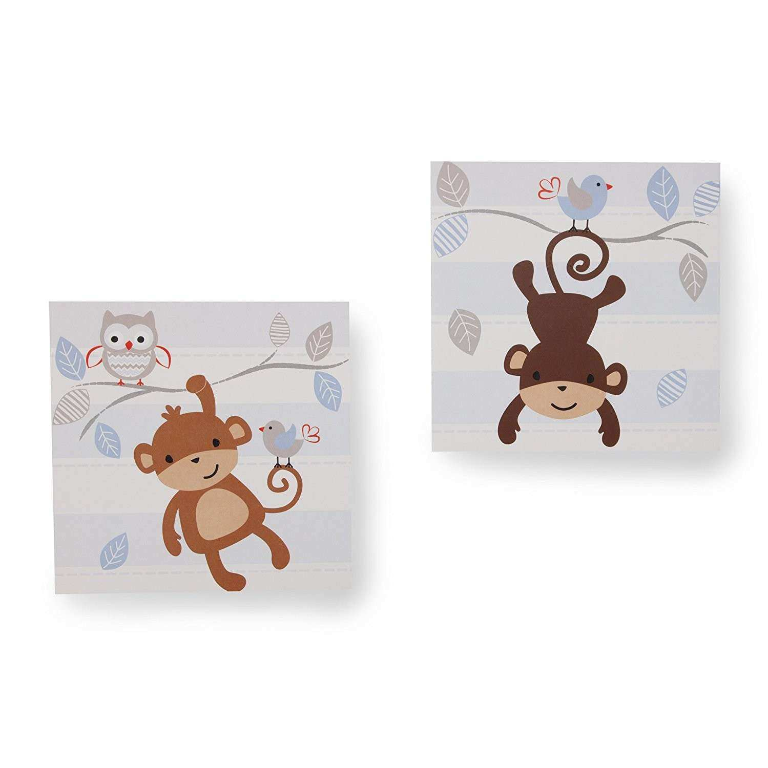 Mod Monkey Wall Decor Nursery Prints Baby Room Kids Girl