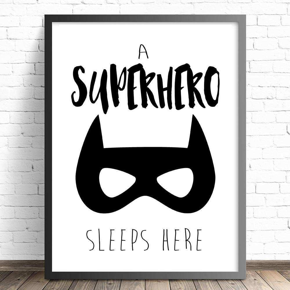 The Kids Print Store Superhero Nursery Prints