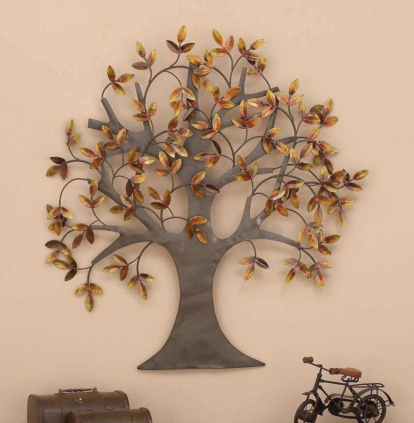 Brass Wall Decor Elegant Metal Wall Art Tree Of Life Leaves Dream ...