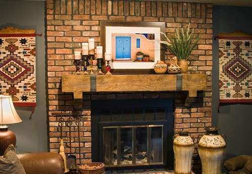 Brick Wall Decor Lovely How to Decorate A Red Brick Fireplace Mantel ...