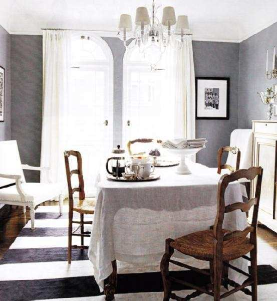 Gray Rooms Contemporary dining room Elle Decor