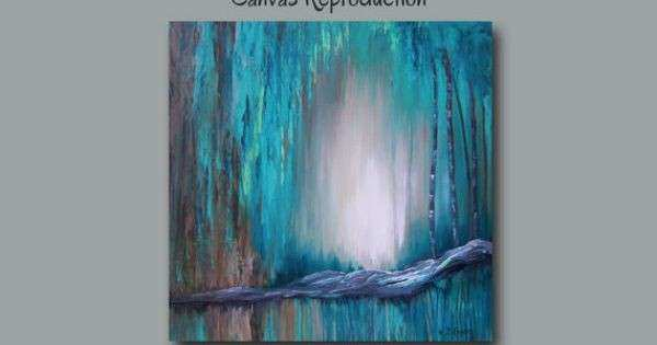 Extra wall art Abstract painting canvas art print