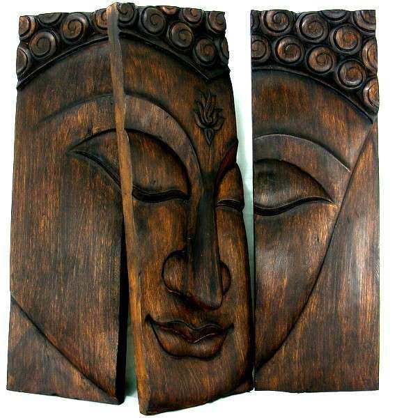 Buddha Wall Art Awesome Wood Decor Carved