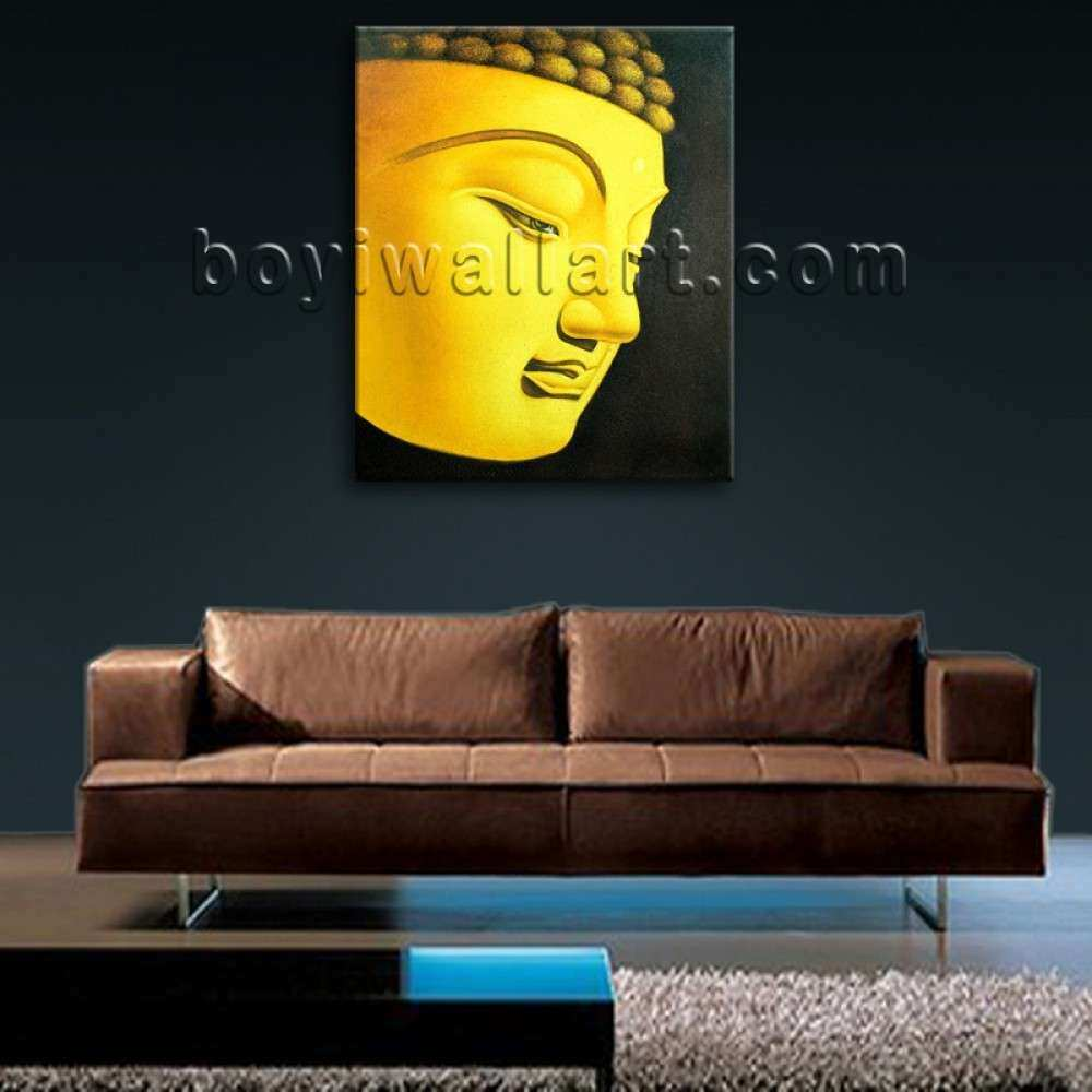 Feng Shui Painting Abstract Buddha Head Peaceful