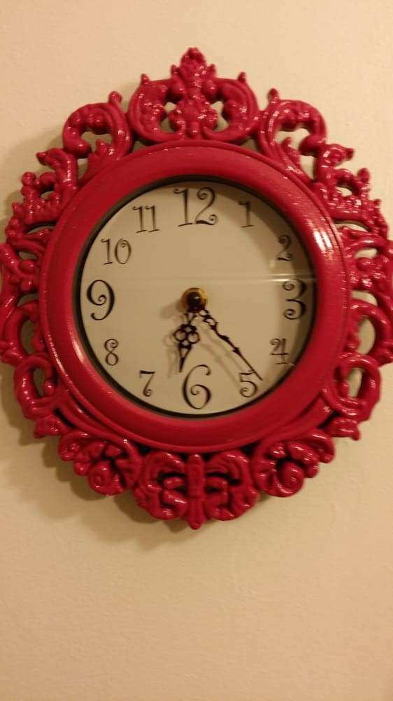 $5 Hot pink funky wall clock for my new bathroom