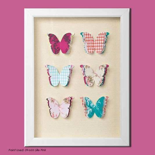 Butterfly Framed Wall Art Beautiful butterflies Corsage Framed Wall Art