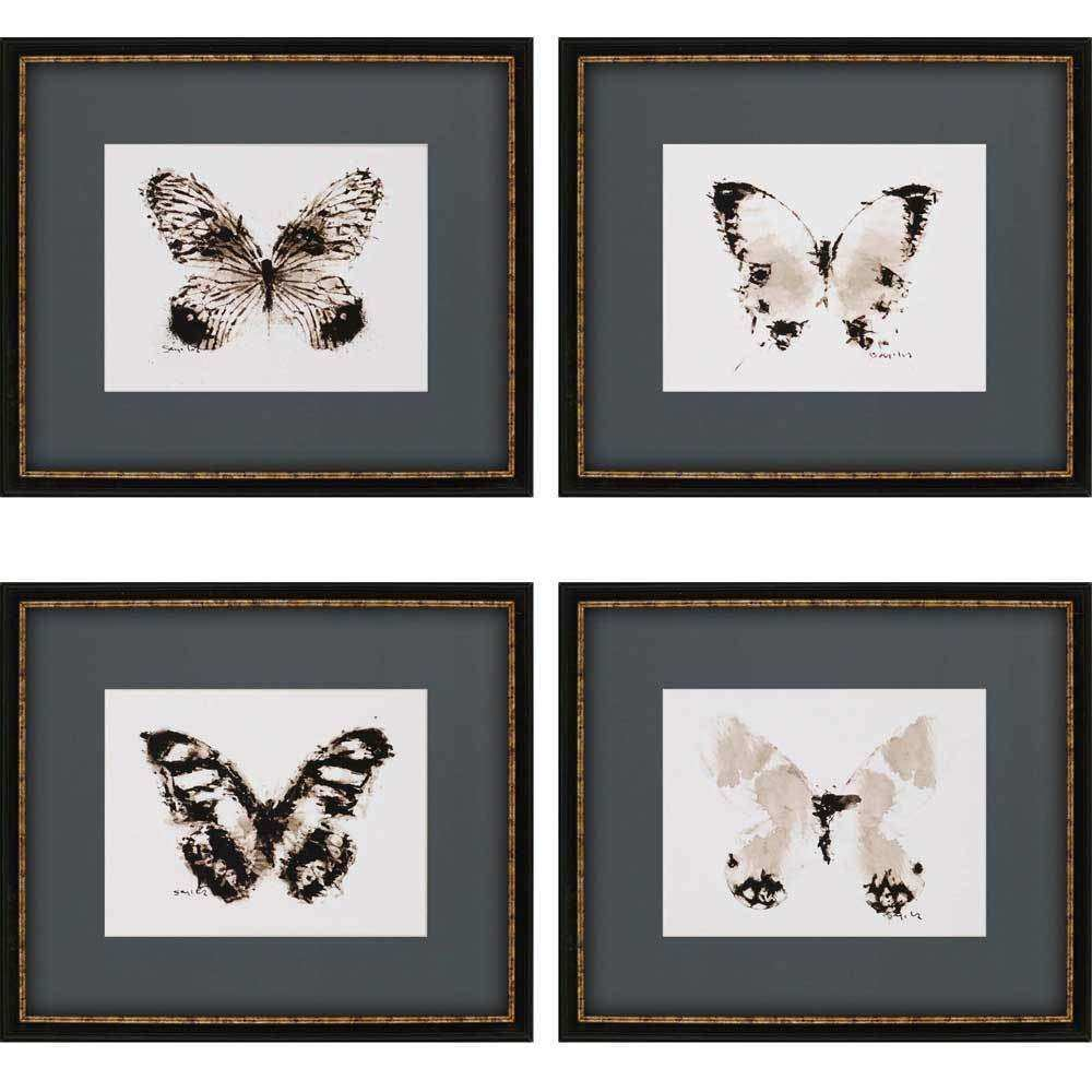 Paragon Inked Butterflies Framed Wall Art 4998
