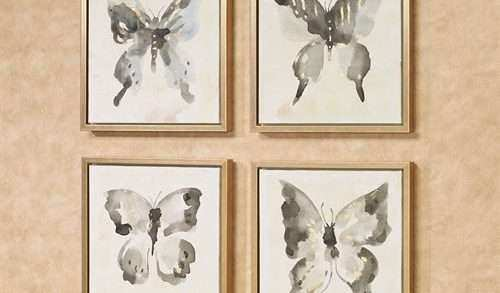 Butterfly Framed Wall Art Luxury butterfly Allure 4 Pc Framed Wall Art Set