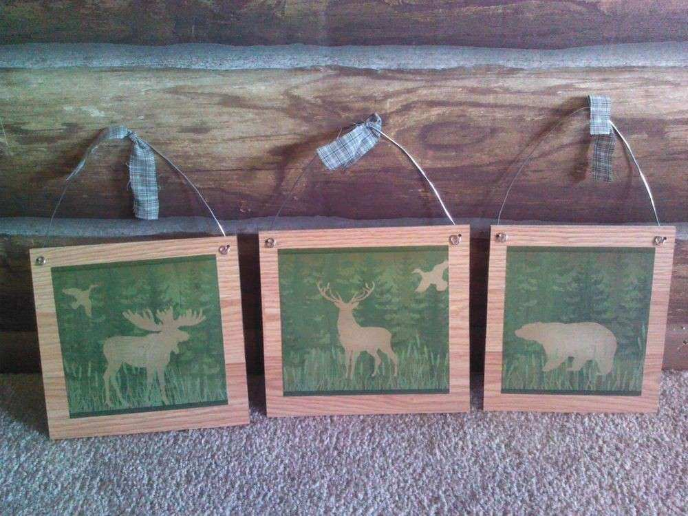 Cabin Wall Decor Fresh 3 Wildlife Moose Deer Bear Rustic Wall