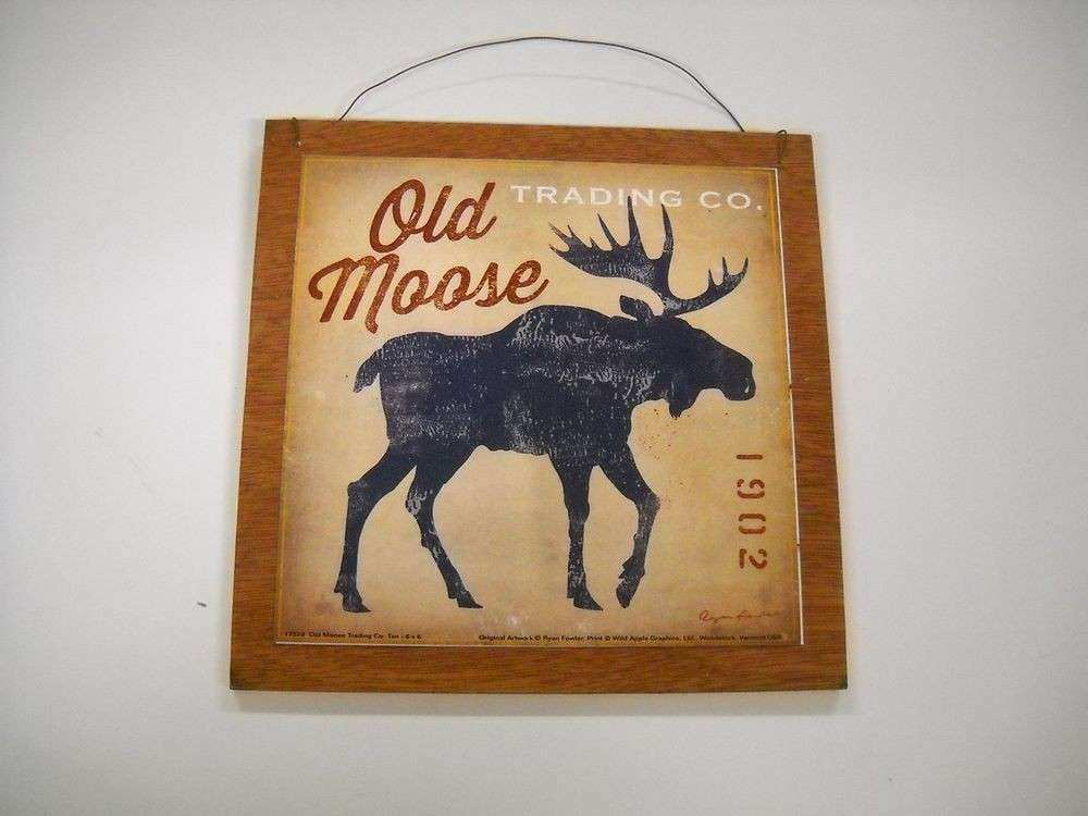 Cabin Wall Decor Luxury Old Moose Trading Pany Wooden Wall Art Sign ...