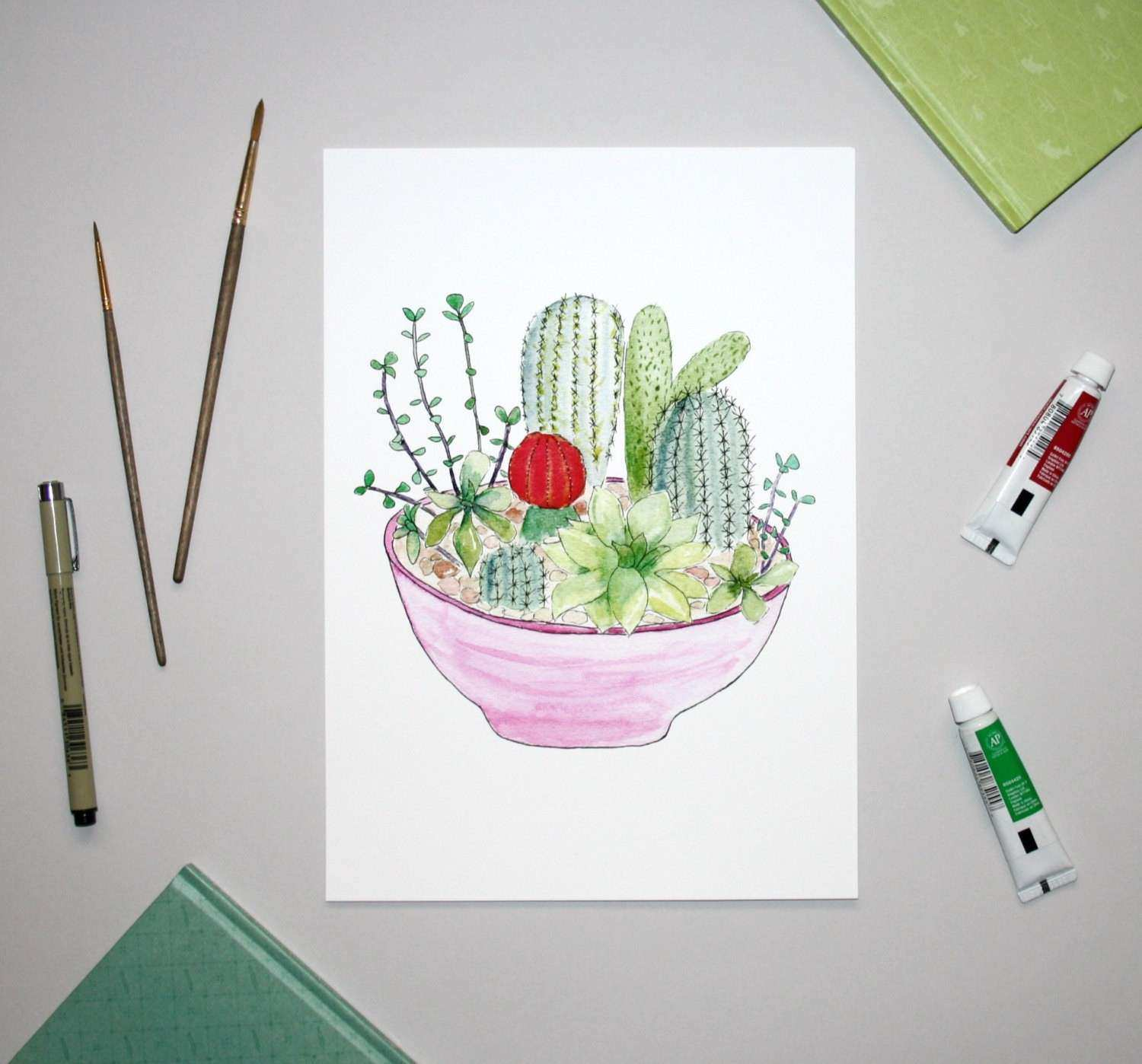 Cactus Wall Art Related Keywords & Suggestions Cactus