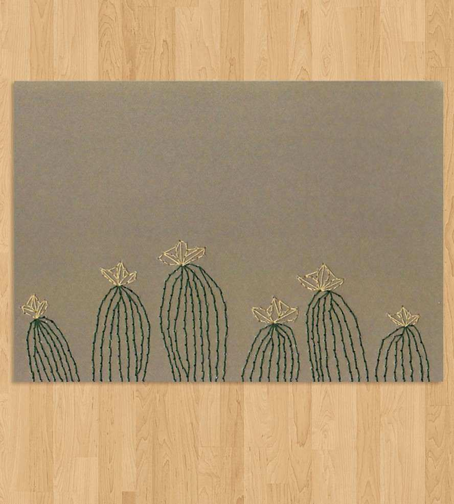 Cactus Embroidered Wall Art Art Art Pieces