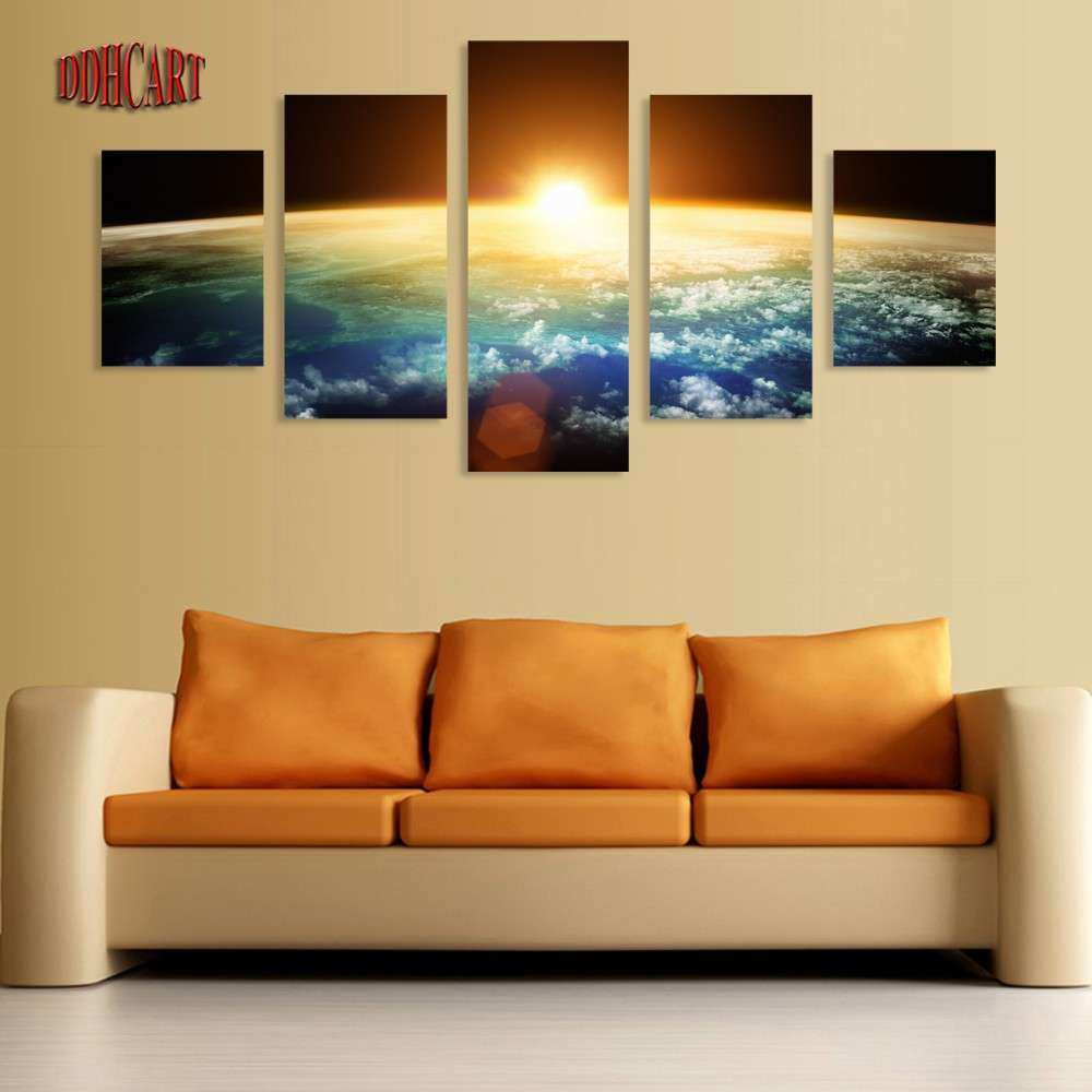 5 Piece Canvas Art Wall Art Prints Painting Space Picture