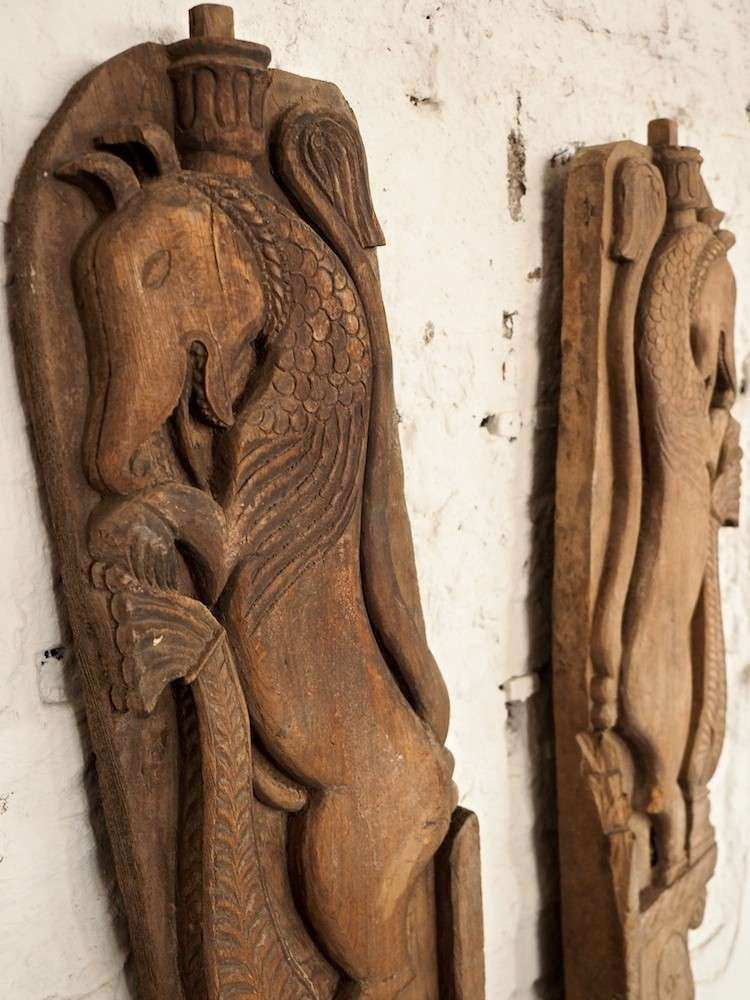 Wallmounted Indian Carved Wooden Horses Bringing It All