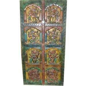 Hand Carved Door Wood Wall Panel India Decor