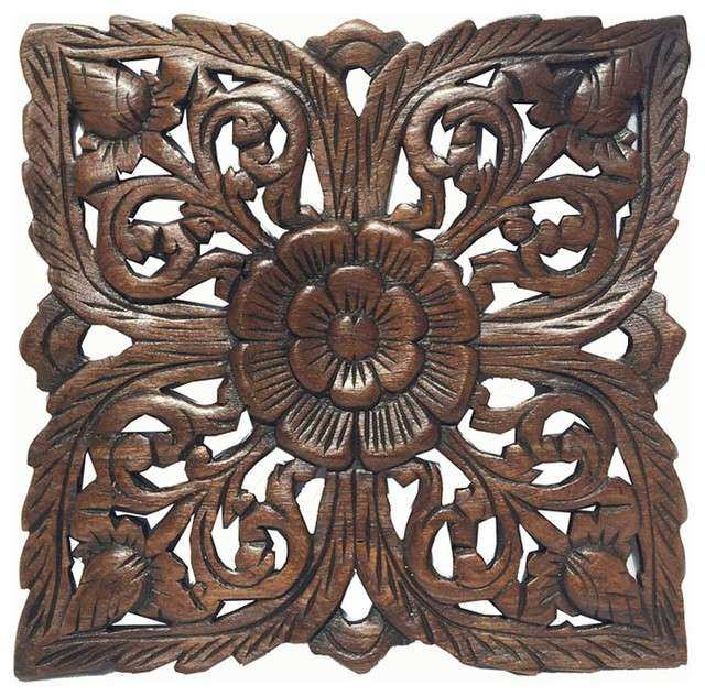 Carved Wood Wall Art India Lovely Carved Wood Wall Plaquerustic Wood Wall  Decor Asian Wall