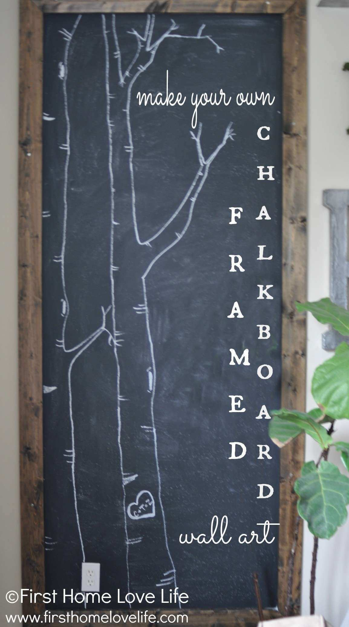 How to Make Your Own Chalkboard Framed Art First Home