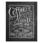Chalkboard Wall Decor Luxury Lily Amp Val Coffee Love Coffee Art Print Chalkboard Of Chalkboard Wall Decor