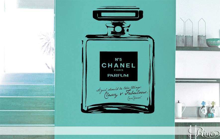 Chanel no 5 Classy and Fabulous Vinyl Wall Decal Wall
