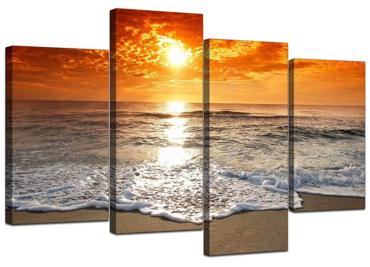 Canvas of Beach at Sunset for your Living Room